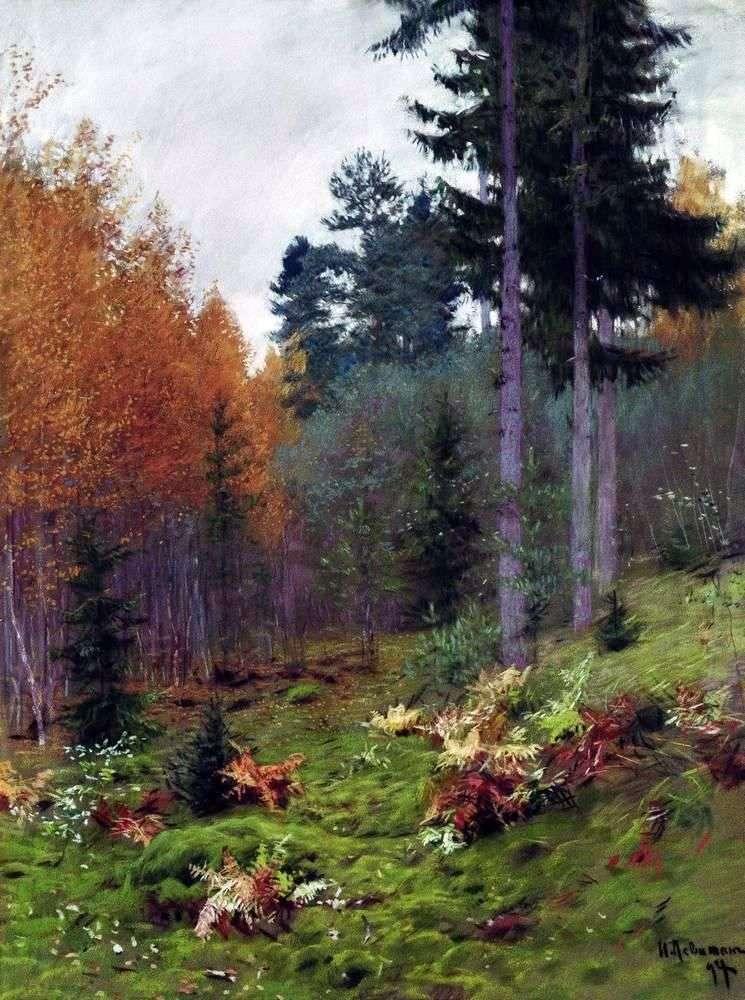 В лісі восени   Ісаак Левітан