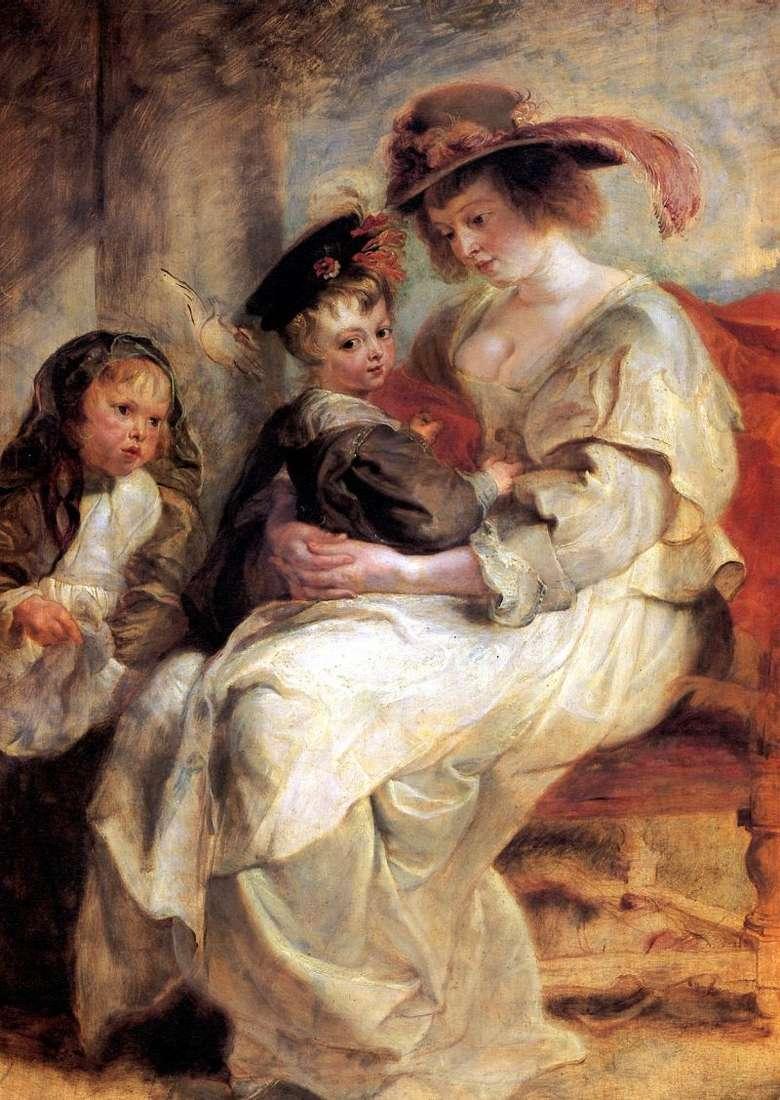 Портрет Єлени Фоурмен з двома дітьми   Пітер Рубенс
