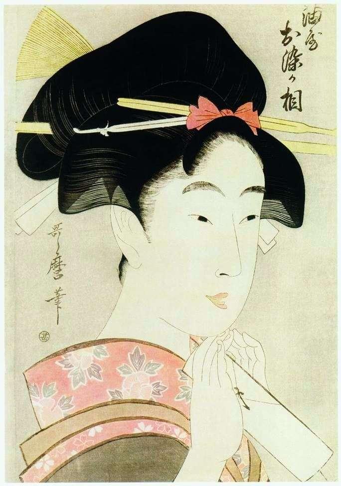Красуня Осомэ з дому Абура я   Кітагава Утамаро