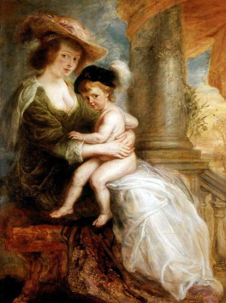 Портрет Олени Фоурмент з її старшим сином Францем   Пітер Рубенс