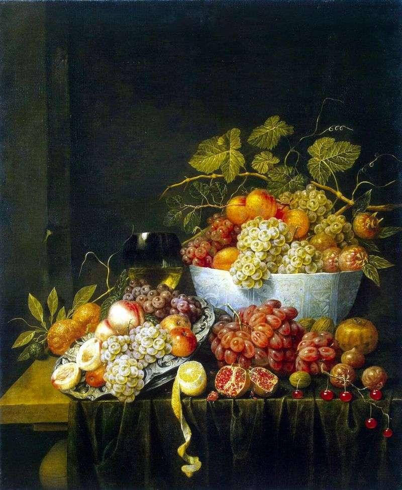 Натюрморт з виноградом   Адріан ван Утрехт