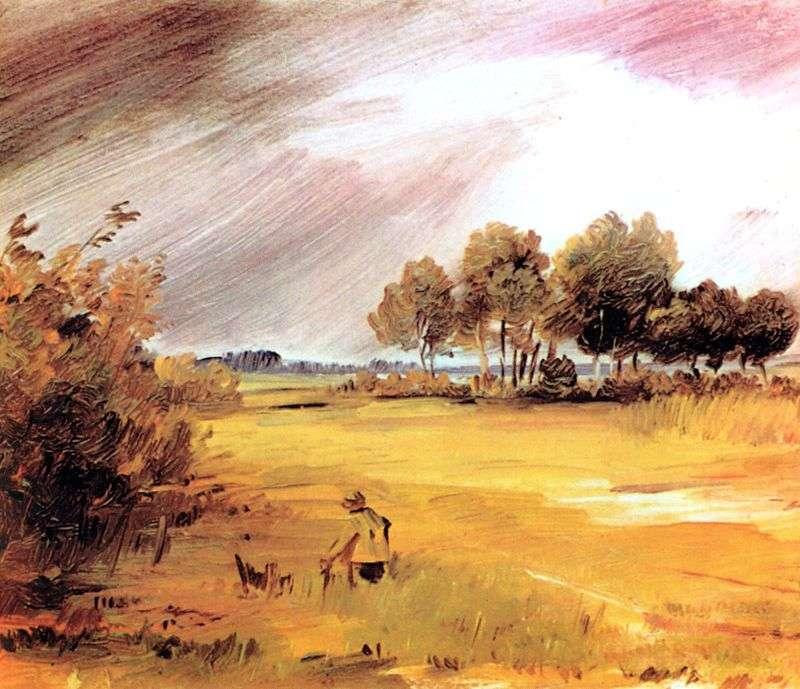 Пейзаж під час дощу   Вільгельм Буш