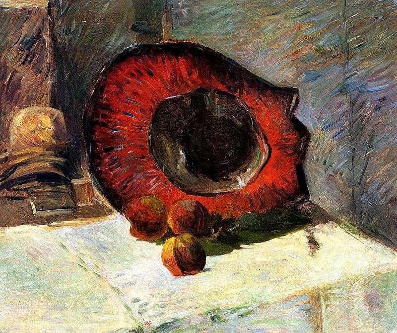 Червона капелюх і фрукти   Поль Гоген