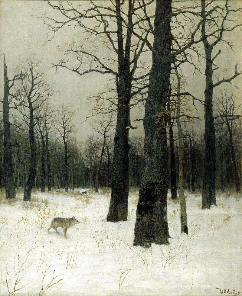 Взимку в лісі   Ісаак Левітан