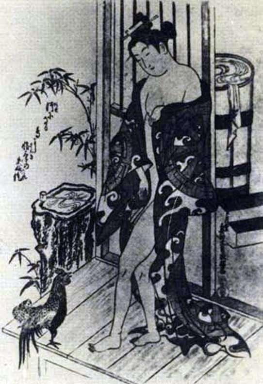 Після купання   Окумура Масанобу