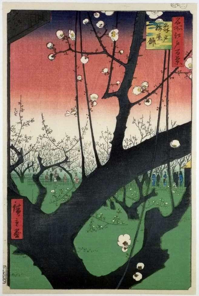 Сливовий фруктовий сад Камэйдо   Андо Хиросигэ