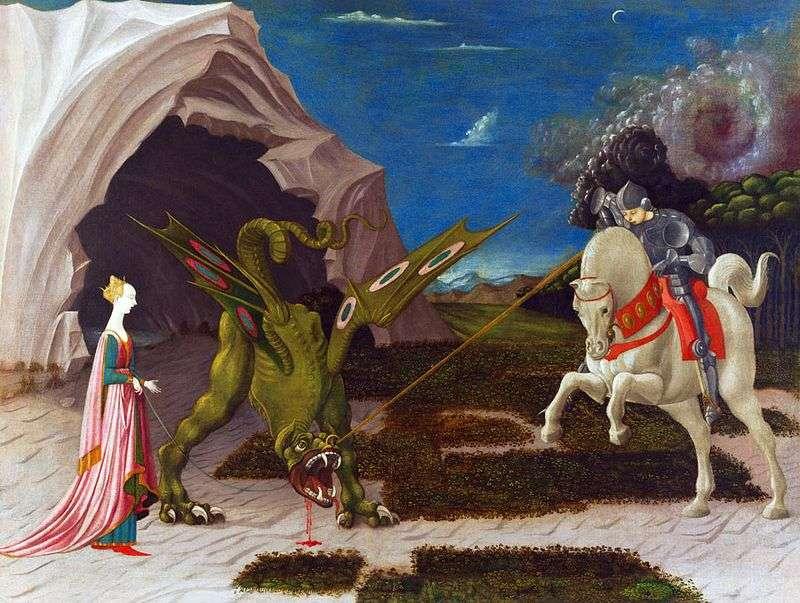 Битви святого Георгія з драконом   Паоло Уччелло