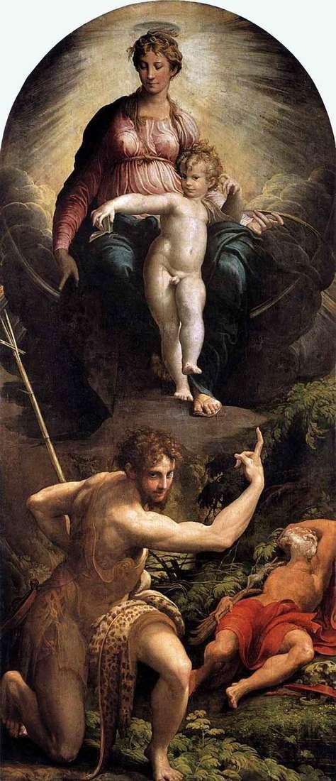 Бачення святого Ієроніма   Франческо Пармиджанино