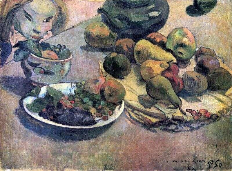 Натюрморт з фруктами   Поль Гоген