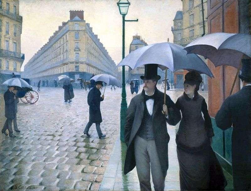 Паризька вулиця в дощову погоду   Гюстав Кайботт
