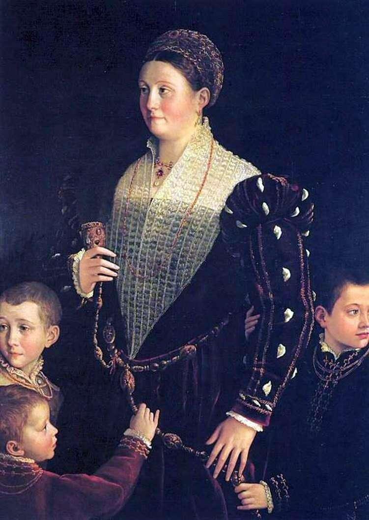 Віконтеса Сансекондо з дітьми   Франческо Пармиджанино