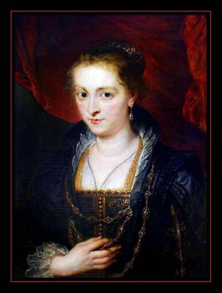 Поясний портрет дами   Пітер Рубенс