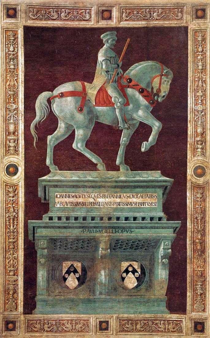 Памятник кондотьеру Джону Хоквуду   Паоло Уччелло
