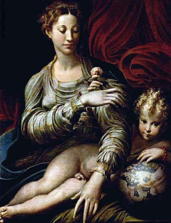 Мадонна з трояндою   Франческо Пармиджанино