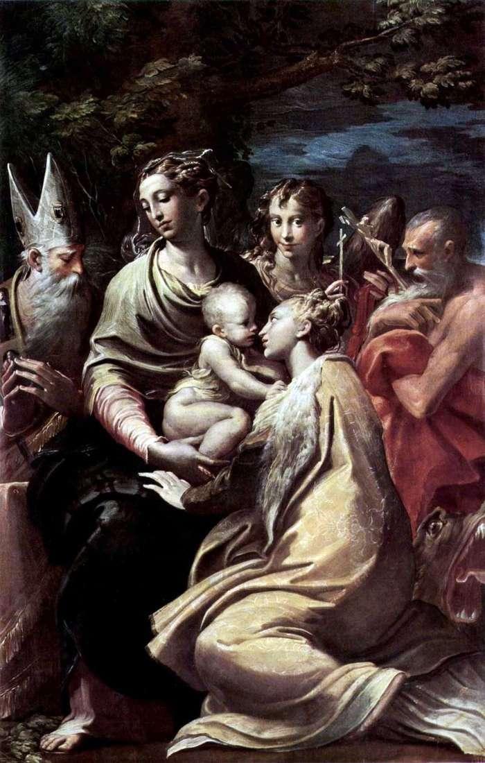 Мадонна із святою Маргаритою та іншими святими   Франческо Пармиджанино