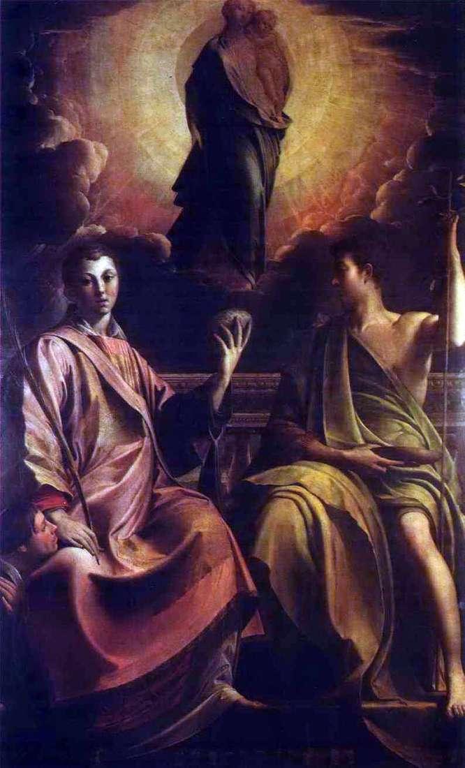 Мадонна, святий Стефан і святий Йоан Хреститель   Франческо Пармиджанино