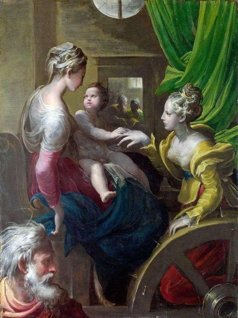 Містичне заручення Святої Катерини   Франческо Пармиджанино