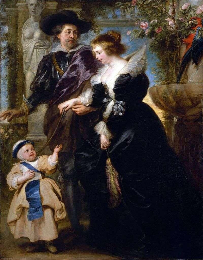 Рубенс, його дружина і син   Пітер Рубенс