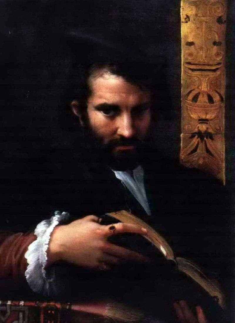 Портрет чоловіка з книгою   Франческо Пармиджанино
