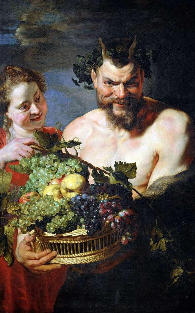 Сатир і дівчинка   Пітер Рубенс