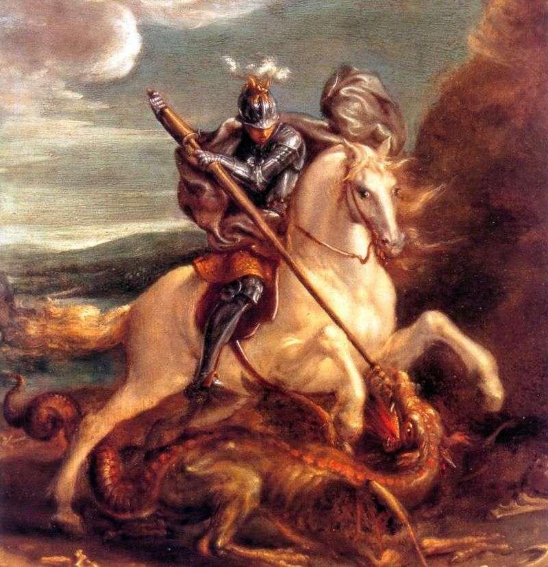 Святий Георгій, що вражає дракона   Ханс фон Аахен