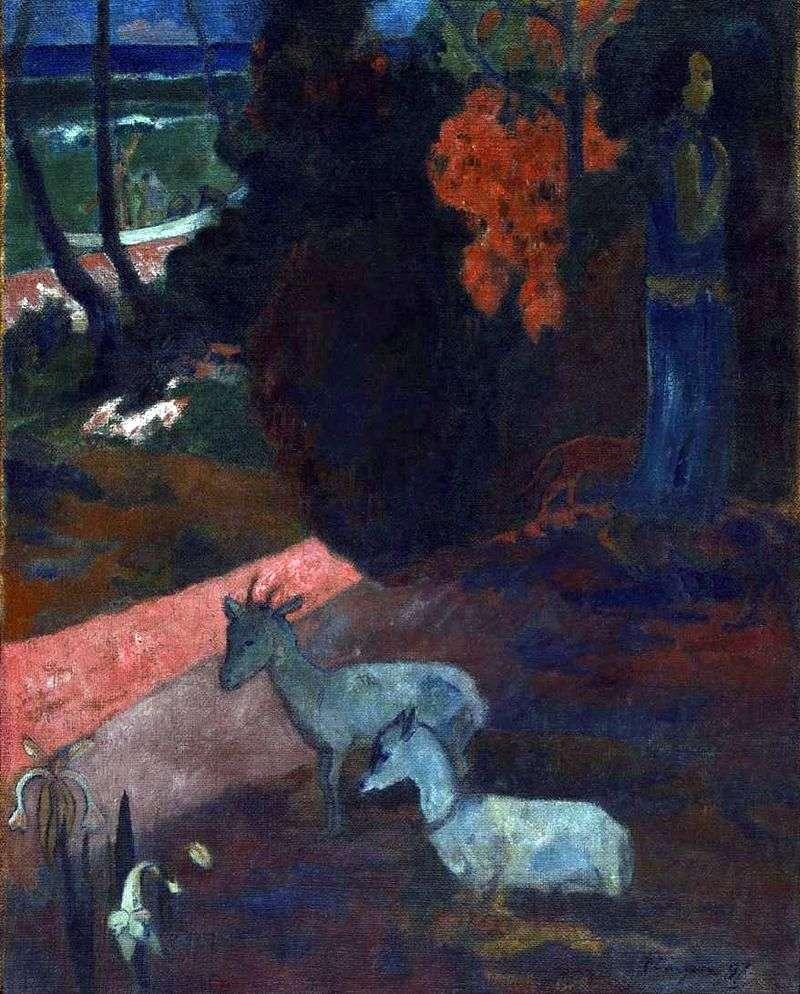 Краєвид з двома козами   Поль Гоген