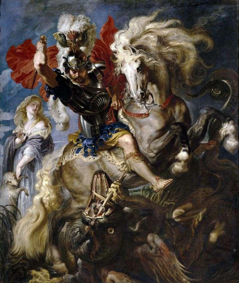 Святий Георгій і дракон   Пітер Рубенс
