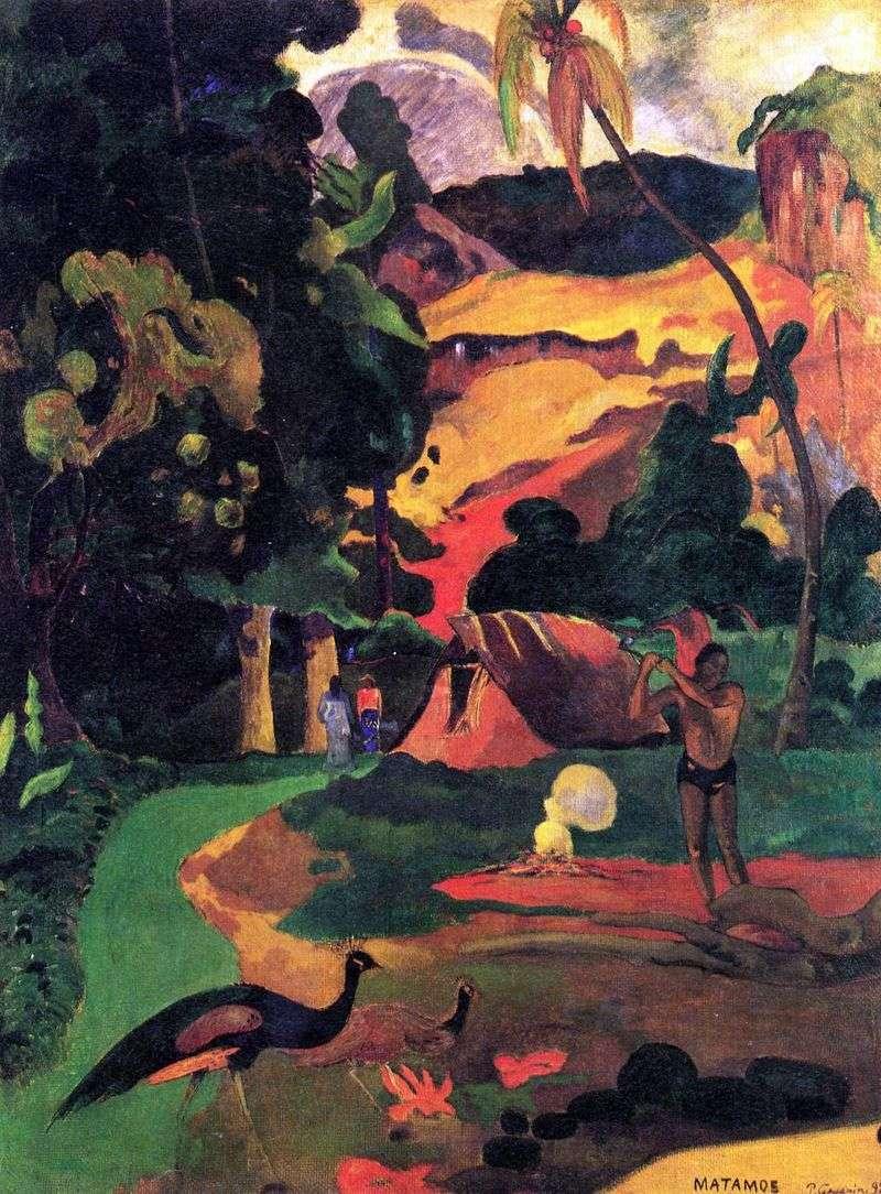 Пейзаж з павичами   Поль Гоген