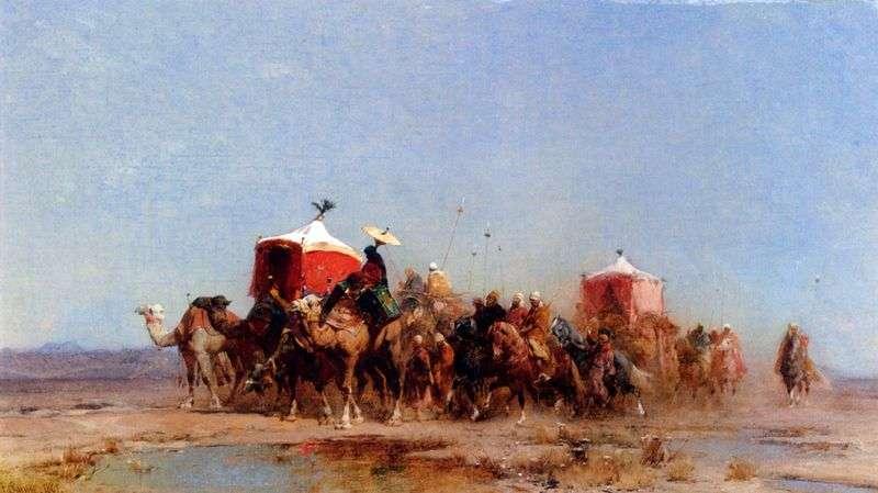 Караван у пустелі   Альберто Пасини