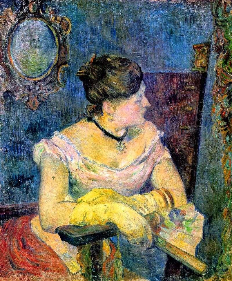 Портрет мадам Гоген у вечірній сукні   Поль Гоген