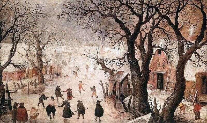 Зима в місті   Хендрік Аверкамп