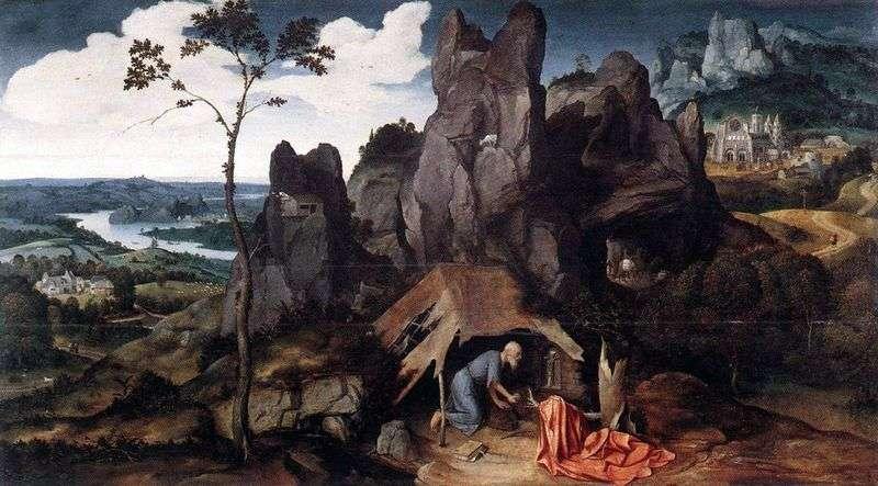 Св. Ієронім в пустелі   Йоахім Патинир