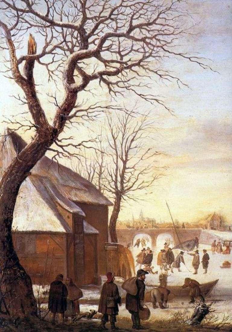 Зимовий пейзаж   Хендрік Аверкамп