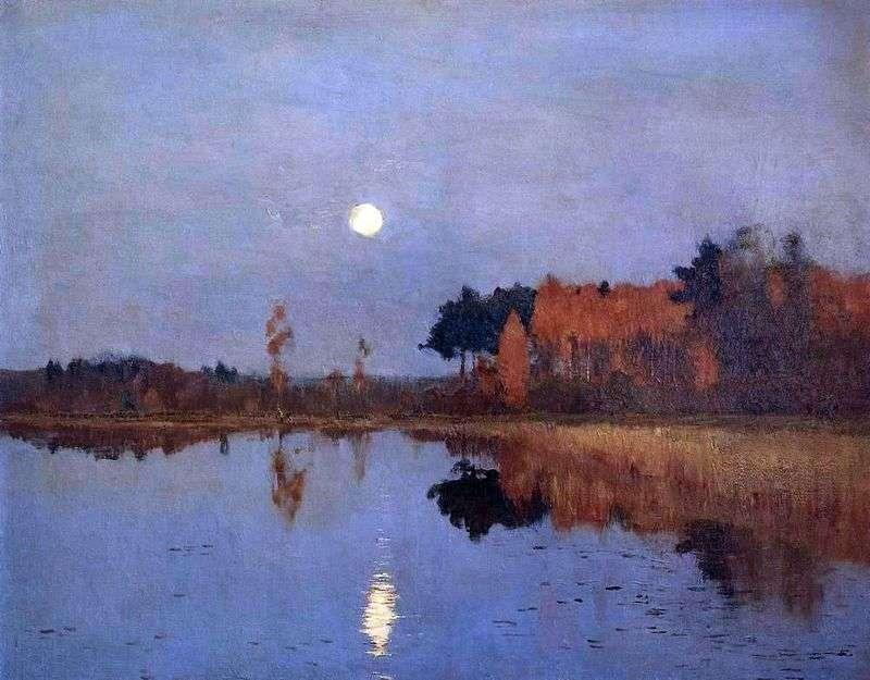 Сутінки. Місяць   Ісаак Левітан