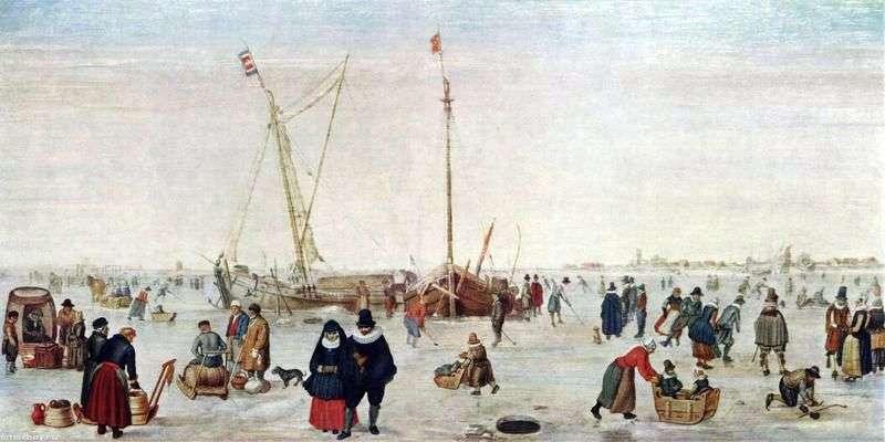 Зимовий пейзаж з ковзанярами   Хендрік Аверкамп