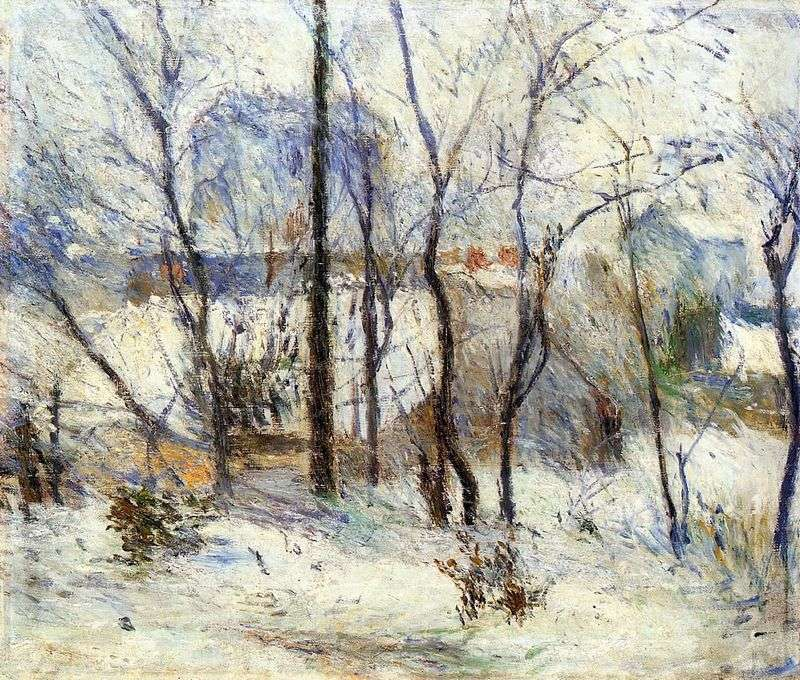 Сад в снігу   Поль Гоген