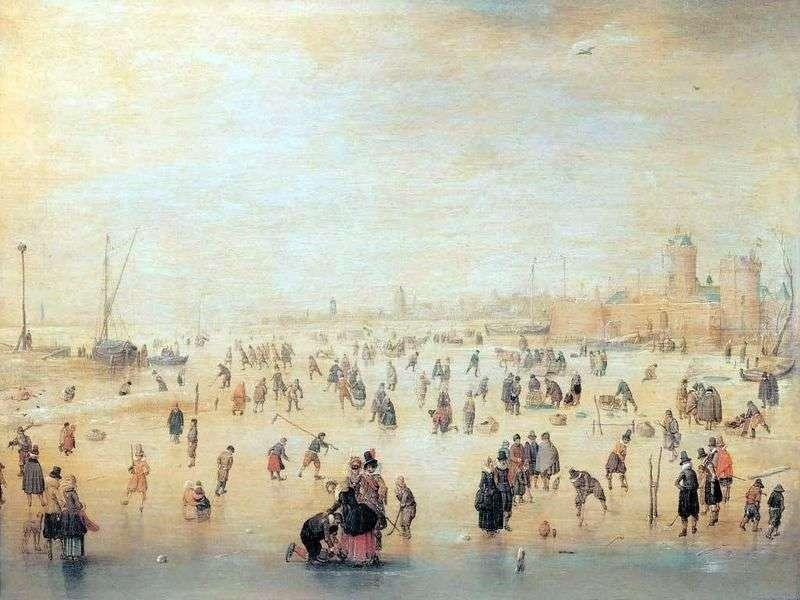 Катання на ковзанах за міськими стінами   Хендрік Аверкамп
