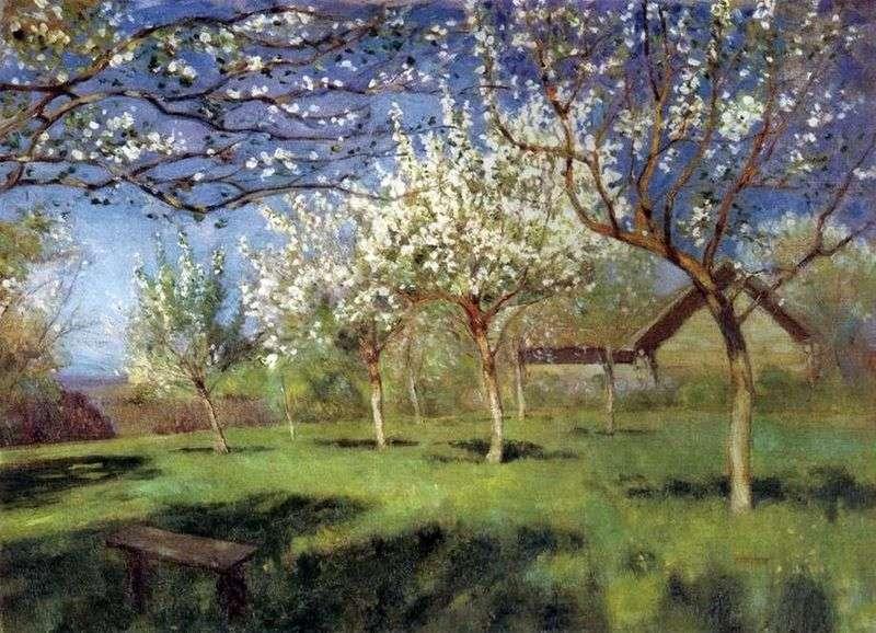 Квітучі яблуні   Ісаак Левітан