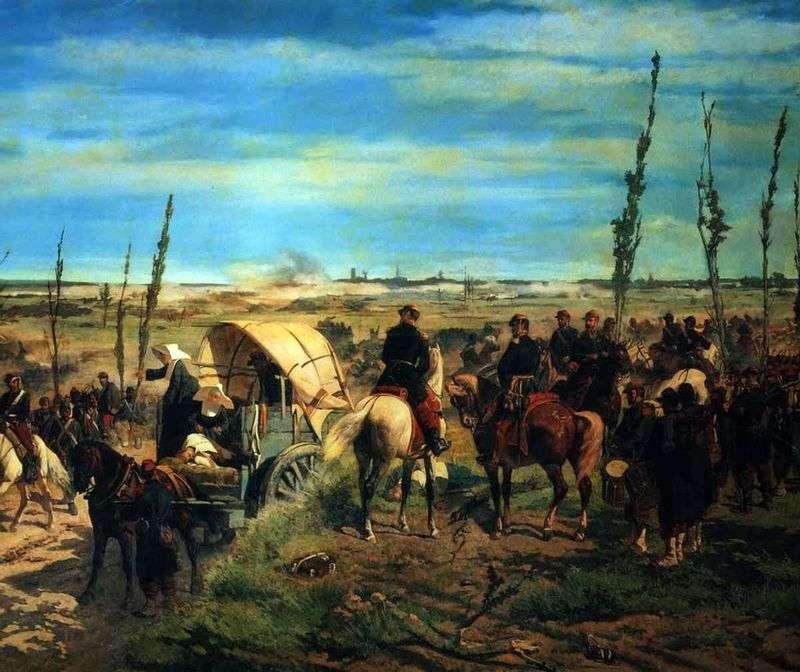 Італійський табір в битві при Мадженте   Джованні Фаттори