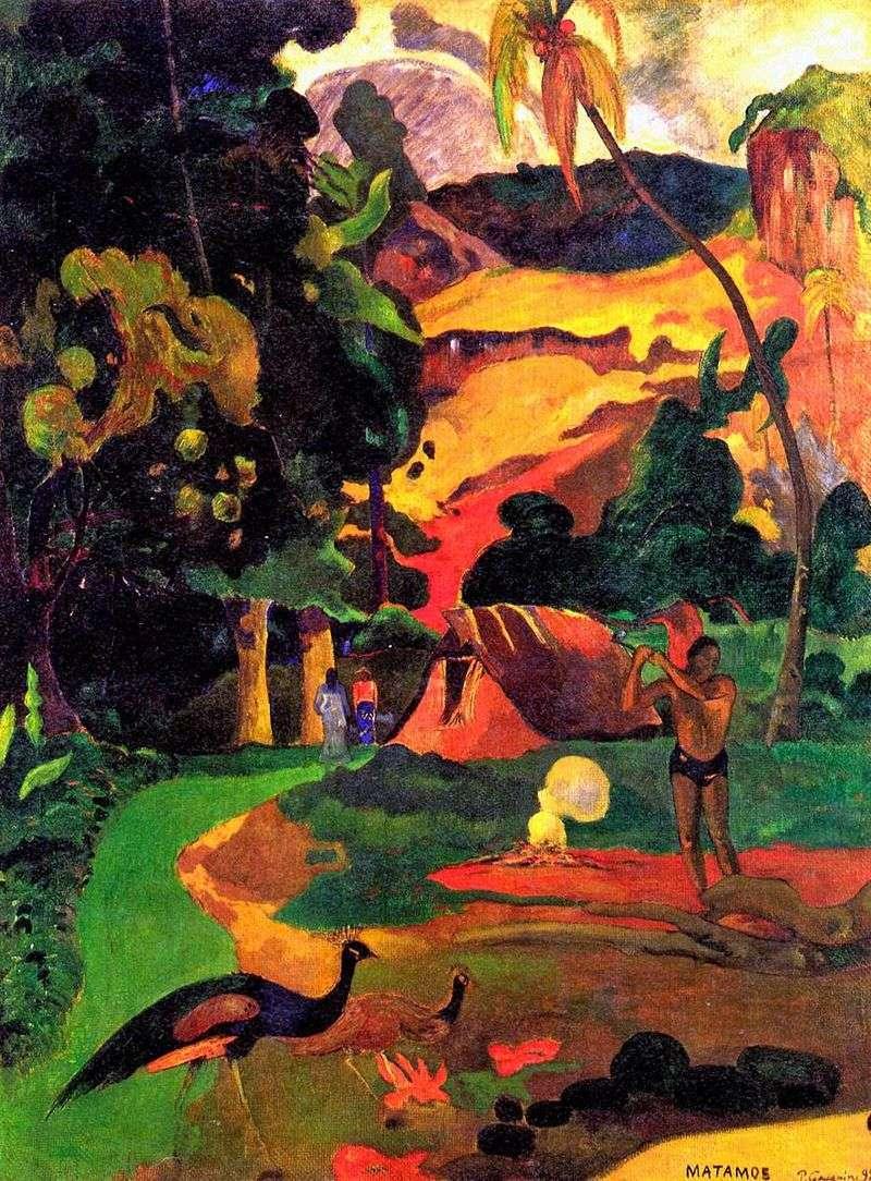 Смерть. Пейзаж з павичами   Поль Гоген
