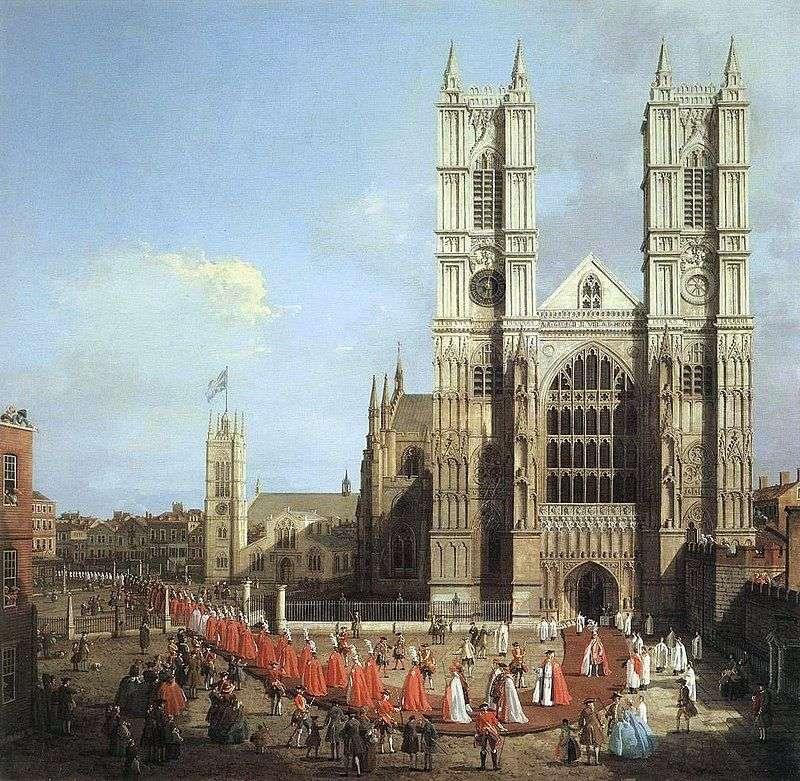 Вестмінстерське абатство і процесія лицарів   Антоніо Каналетто