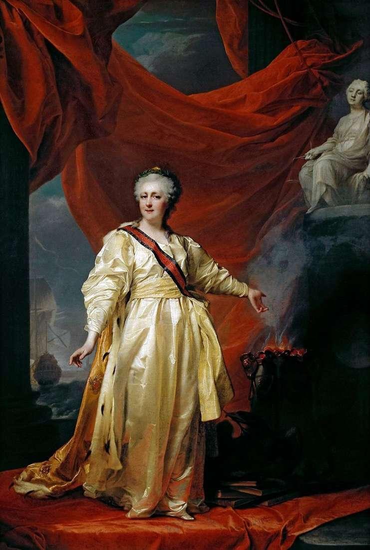 Катерина II   законодавиця в храмі богині правосуддя   Дмитро Левицький