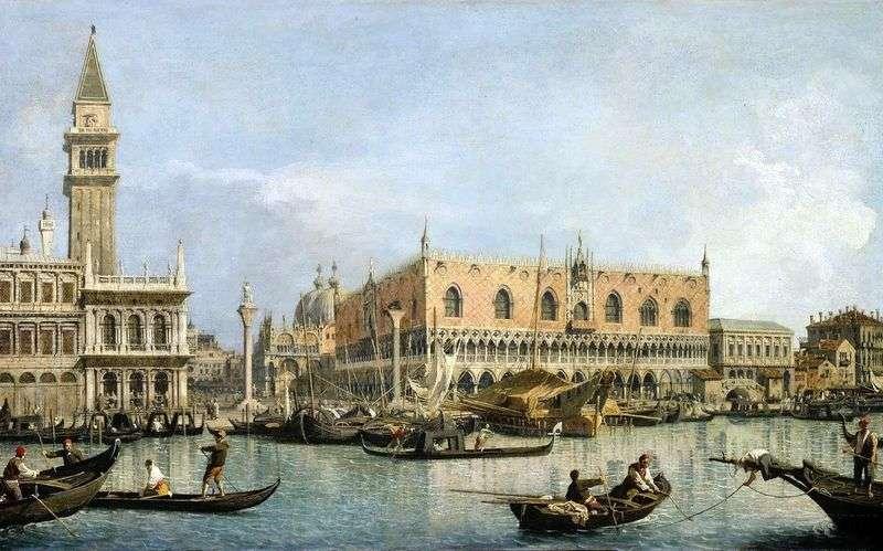 Вид на Палац дожів у Венеції   Антоніо Каналетто