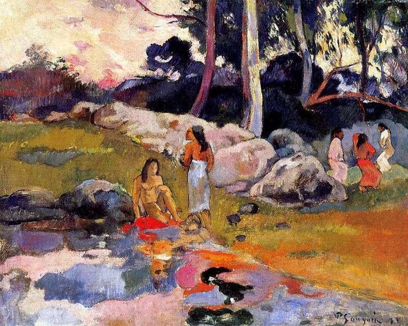 Таитянки на березі річки   Поль Гоген