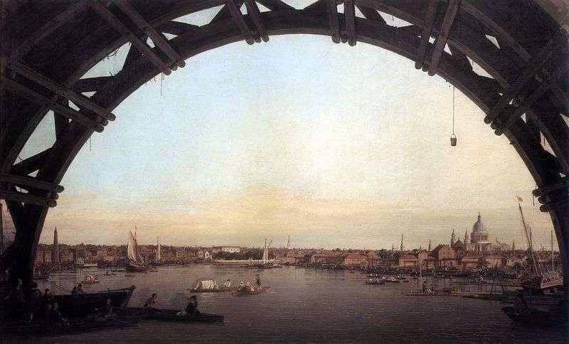 Вид на Лондон через арку Вестмінстерського мосту   Антоніо Каналетто