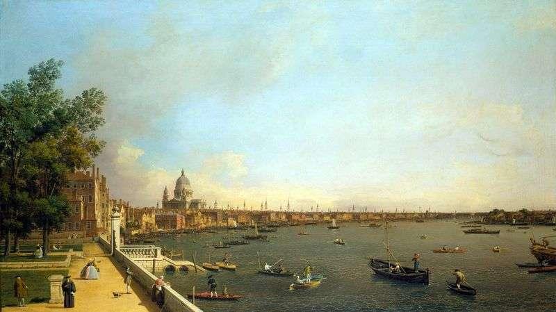 Вид Темзи і Лондона від Сомерсетхауса   Антоніо Каналетто