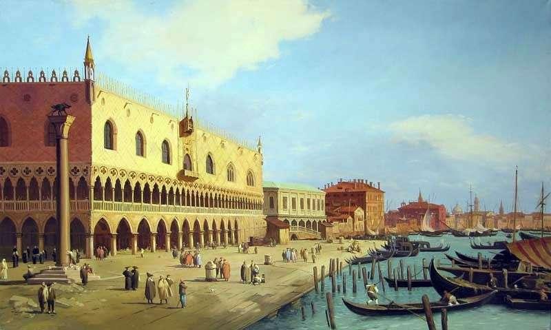Палац дожів і набережна Скьявоні   Антоніо Каналетто