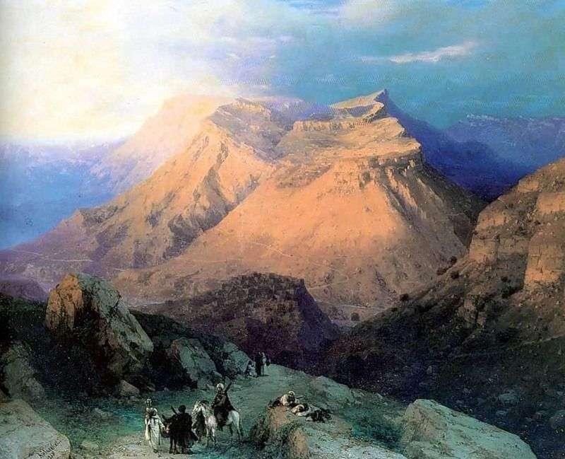 Аул Гуніб в Дагестані. Вид з східної сторони   Іван Айвазовський
