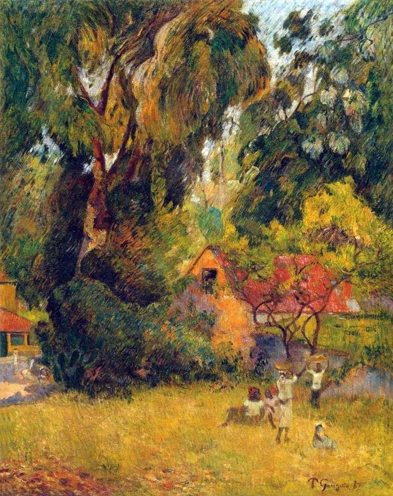 Хатини під деревами   Поль Гоген