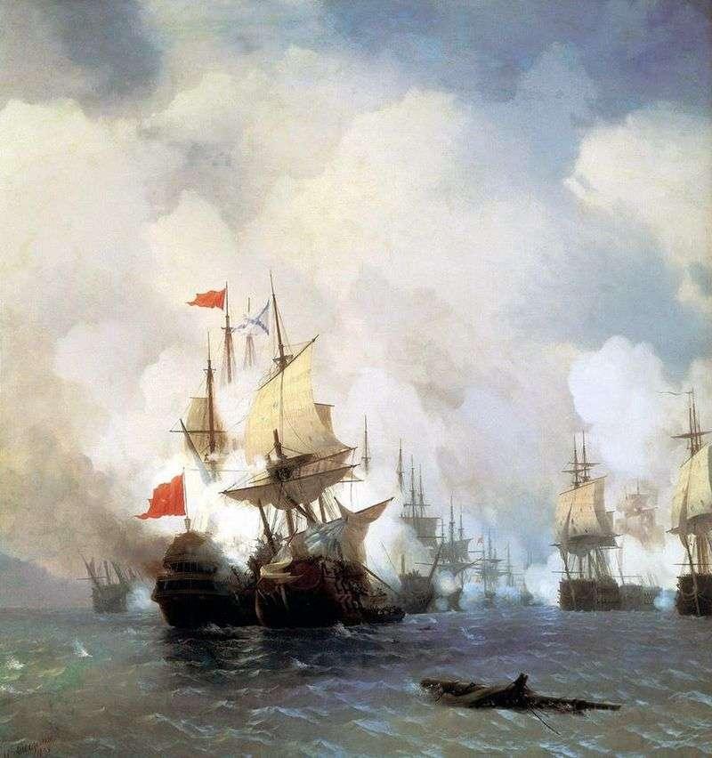 Бій в хиосськом проливе 24 червня 1770 року   Іван Айвазовський
